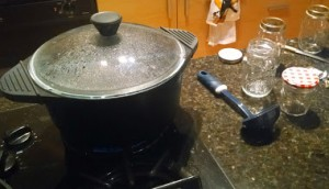 heating pot of water