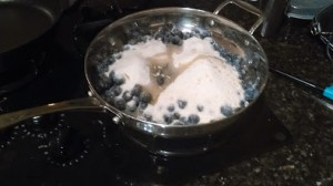 cooking sugar with berries