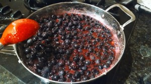 cooking sugar with berries 3